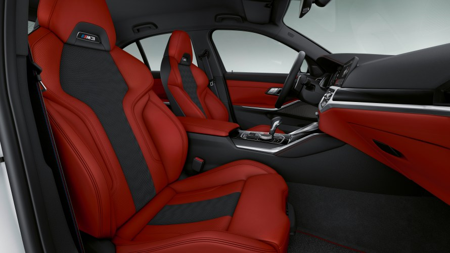 BMW Individual Merino full leather trim with extended features in Fiona Red/Black