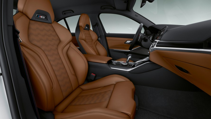 BMW Individual Merino full leather trim with extended features in Merino Tartufo