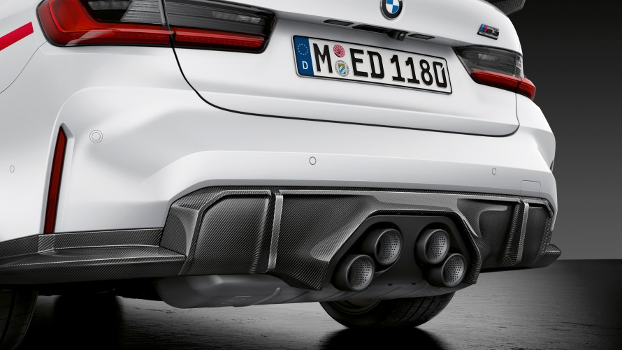 M Performance rear diffuser carbon fibre