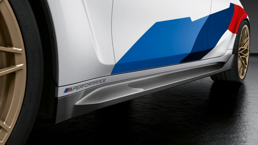 M Performance side skirt attachment carbon fibre