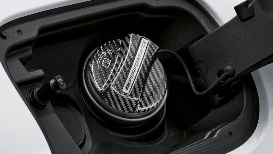 M Performance fuel filler cap carbon fibre
