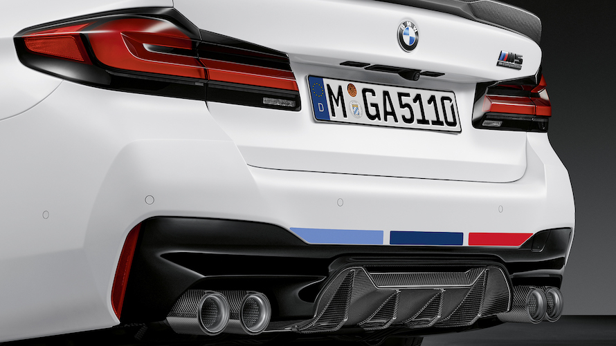 BMW M5 with M Performance carbon fibre rear diffuser