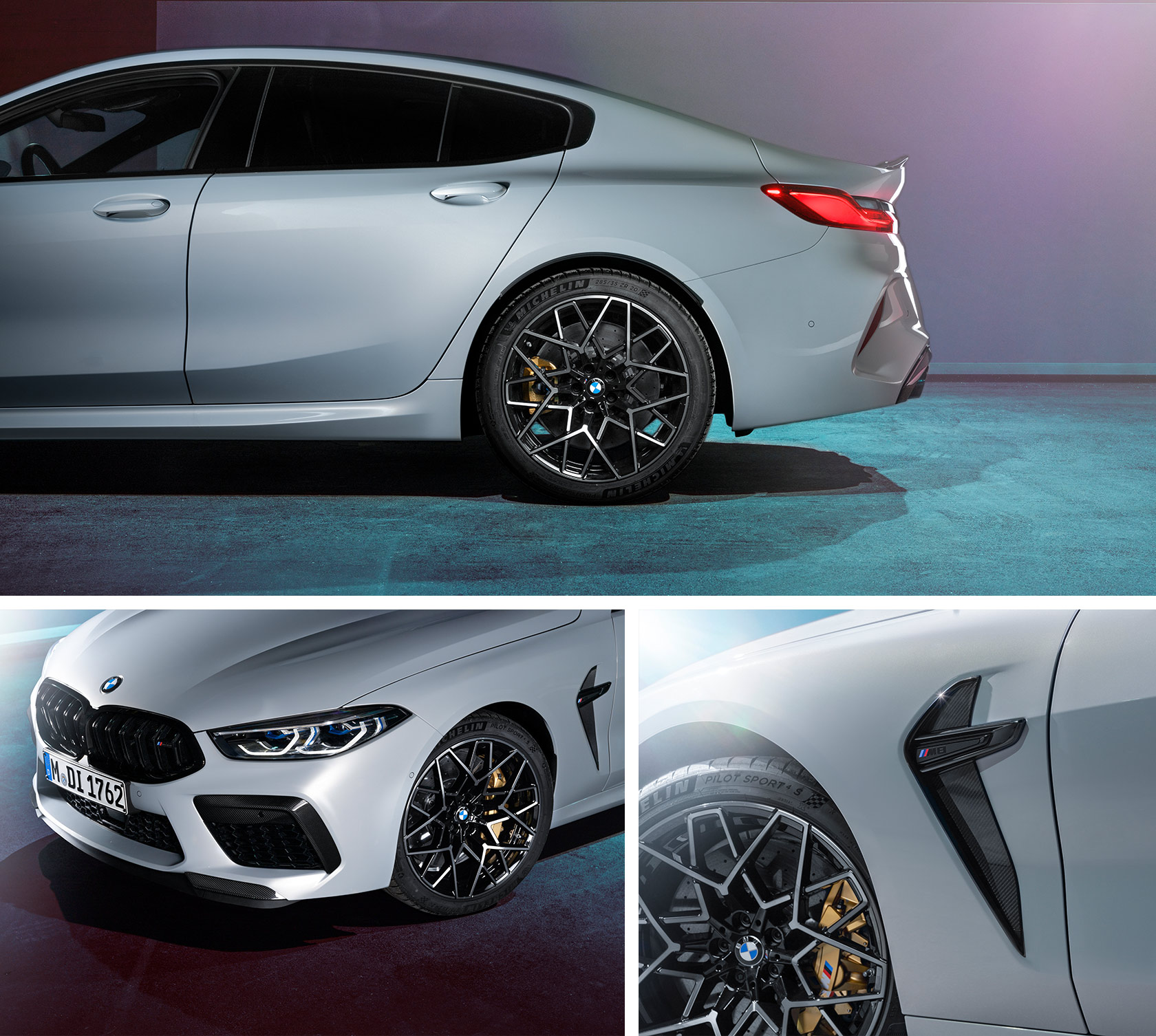The Bmw M8 Competition Gran Coupé In Hockenheim Silver Metallic