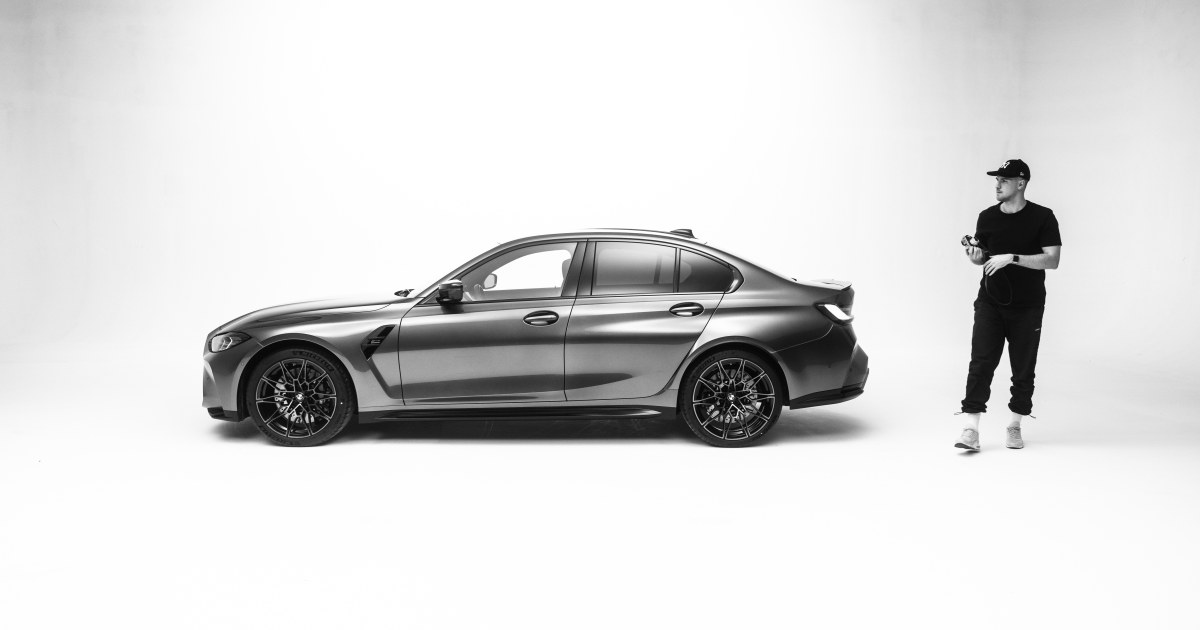 Photographer Frederick Unflath and the new BMW M3