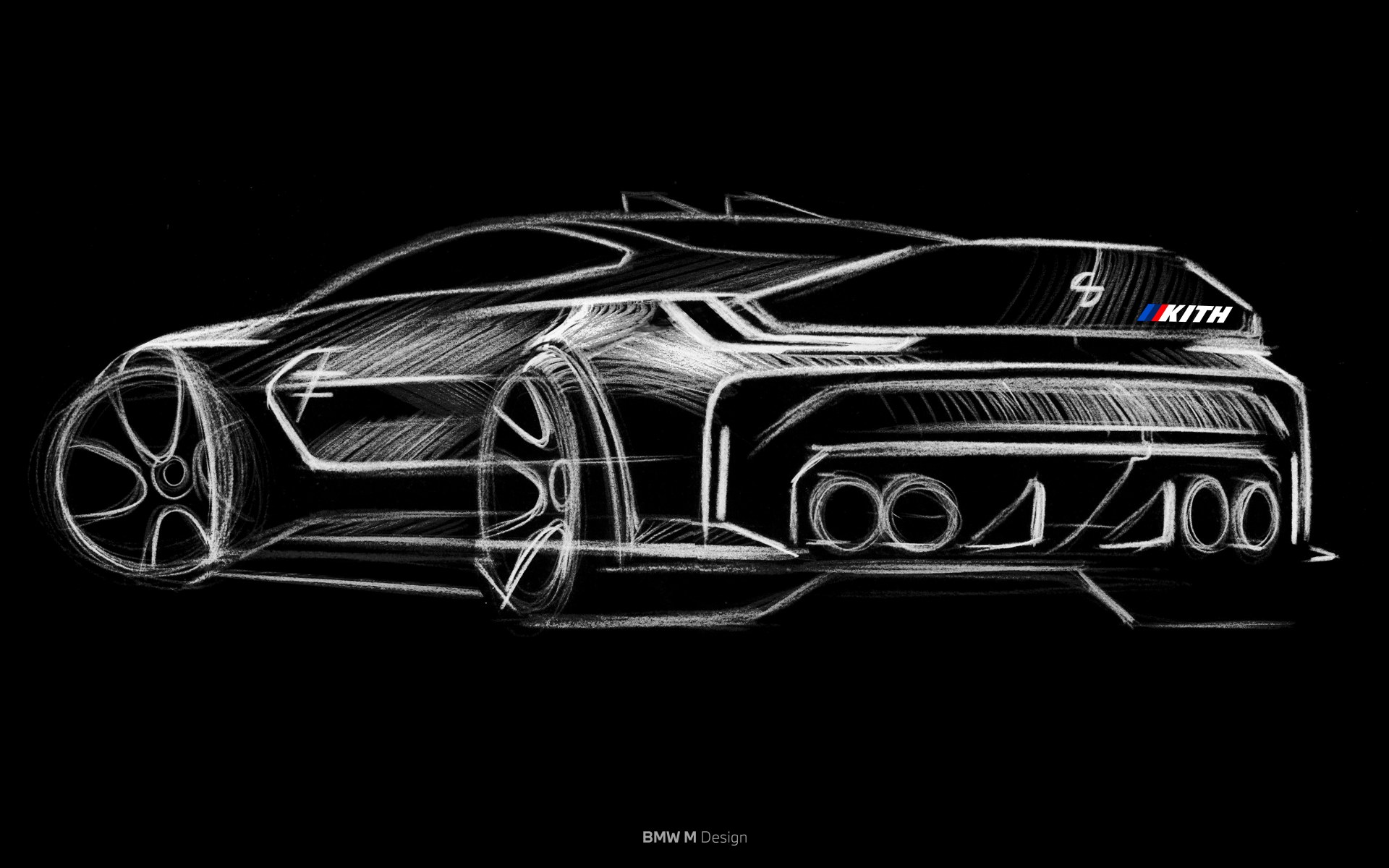 BMW M4 Competition x KITH Design Sketch
