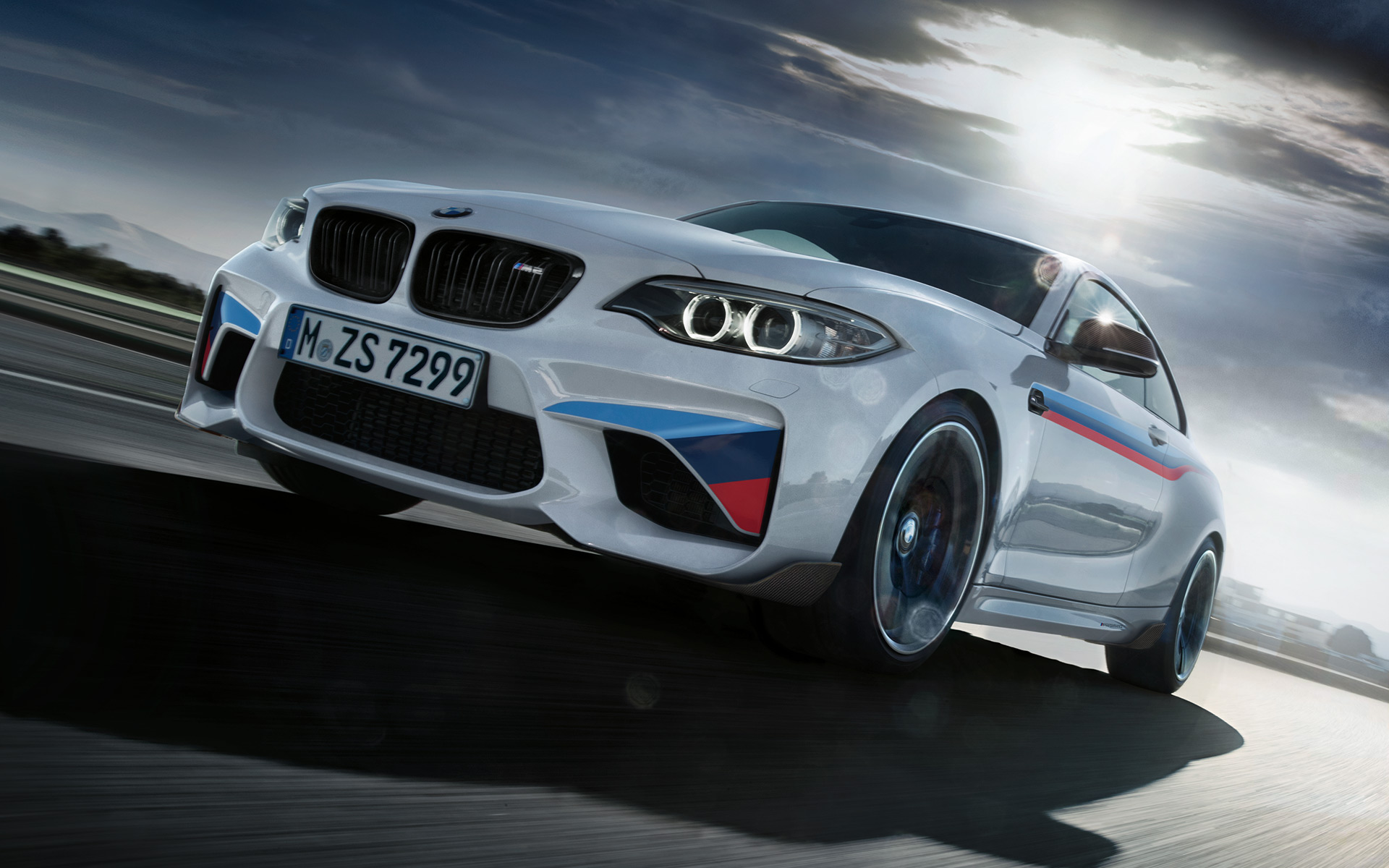 BMW M2 Coupé mit M Performance Parts.