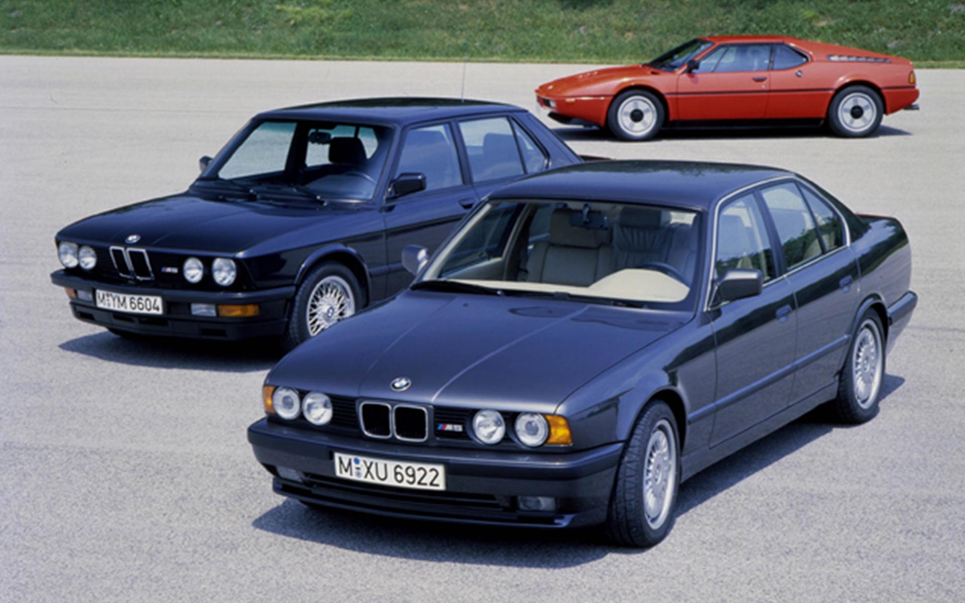 Bmw m5 of 1988 2nd generation bmw m1 bmw m3 of 1986