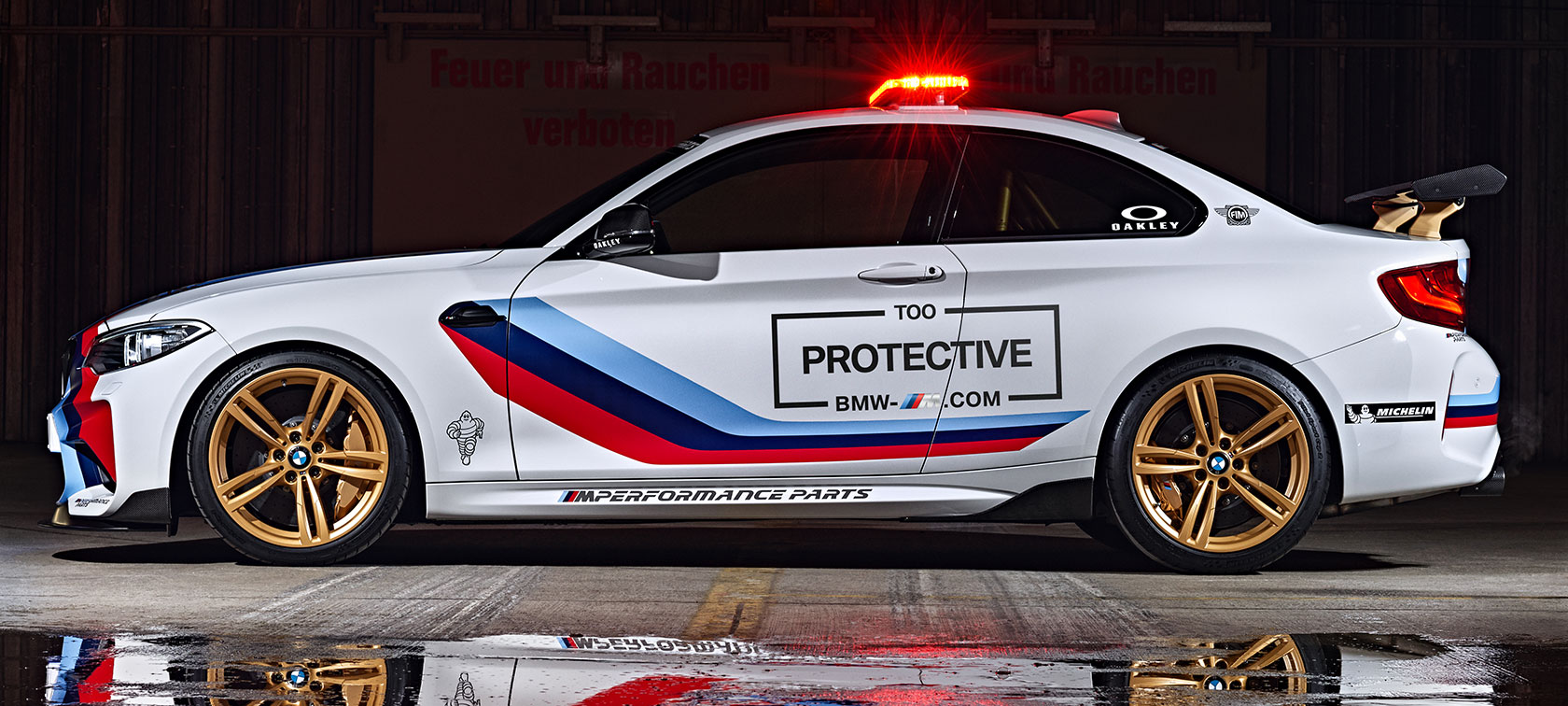 The BMW M2 MotoGP Safety Car
