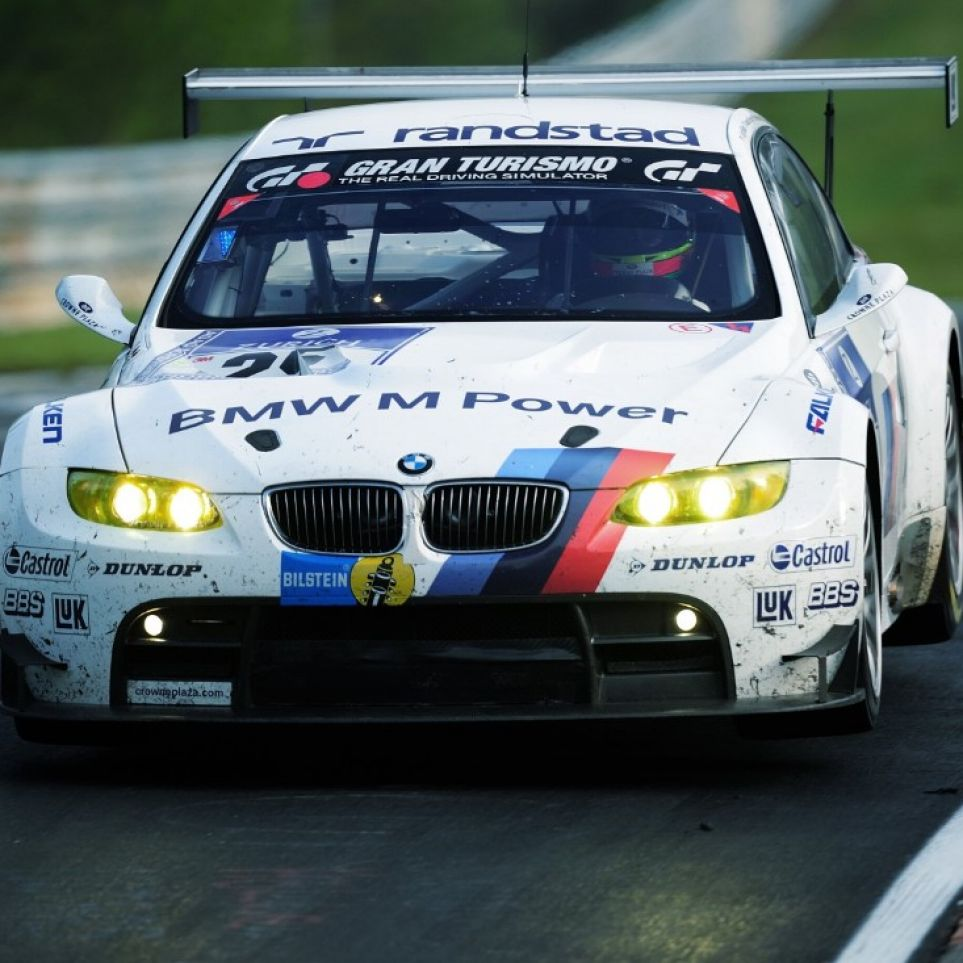 BMW M3 GT2 racing the 24h Race on Nürburgring